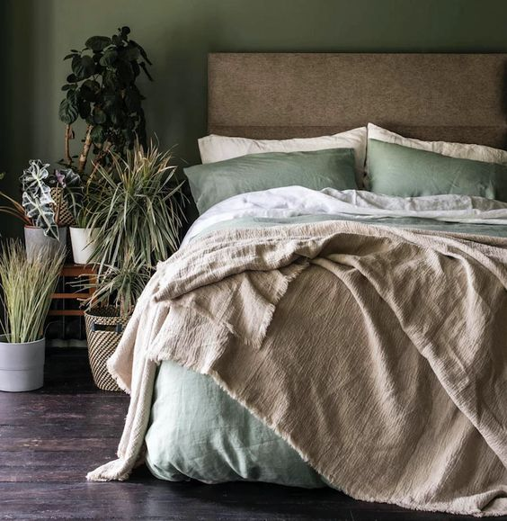 Sage Green Color to Refresh the Bedroom