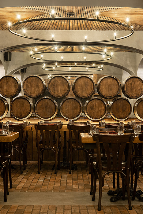 BARRIL Restaurant by Paulo Merlini Architects in Gondomar, Portugal