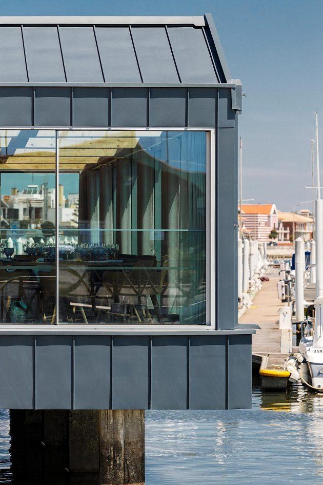 Costa Nova Sailing Club Restaurant by Ferreira Arquitectos in Portugal