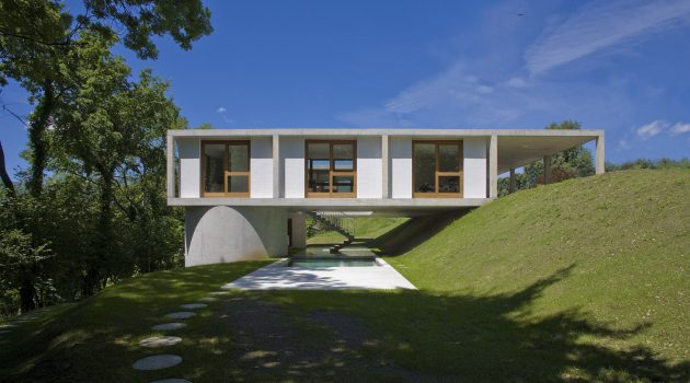 House in Sonvico by Martino Pedrozzi in Switzerland