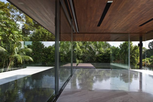 Water-Cooled House by Wallflower Architecture + Design in Bukit Timah, Singapore