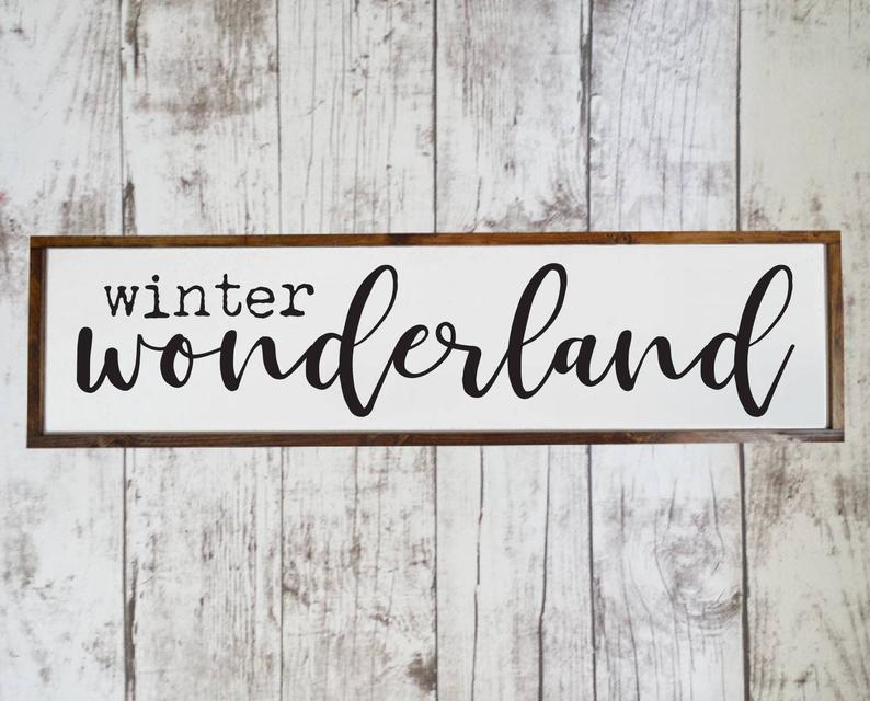 18 Charming Winter Sign Decorations For After The Holidays