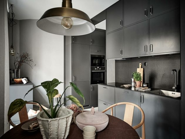 Dark Scandinavian Apartment You Will Immediately Love