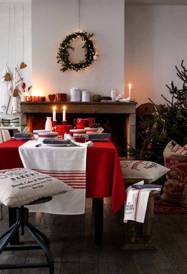 10 Decorative Ideas for the Christmas Table Setting