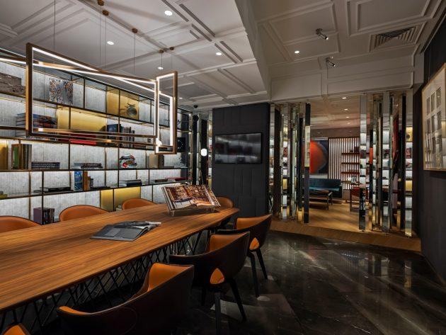 A Timeless Interior For A Timepiece Lounge: Entropia