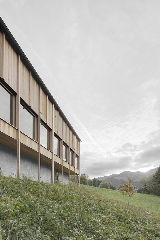 Haus am Stürcherwald by Bernardo Bader Architekten in Laterns, Austria