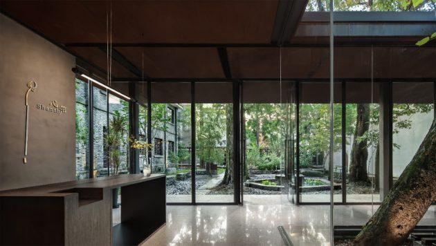 Shanthi Boutique Hotel by Jiakun Architects in Songyang, Zheijang