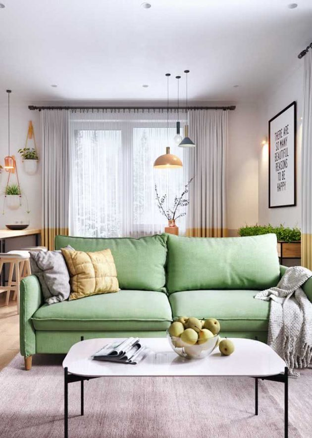 Green Sofa - How To Combine The Item?