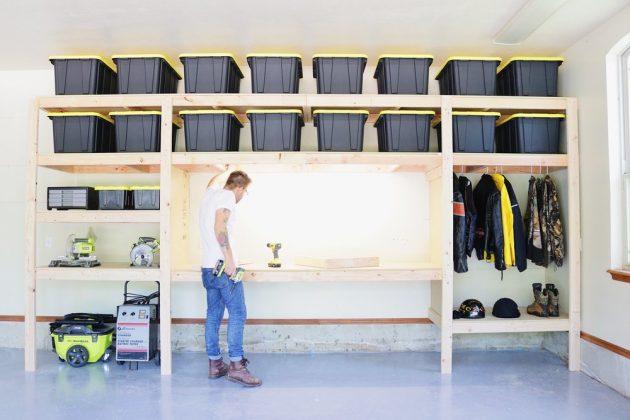 Top 5 Benefits of DIY Wood Garage Storage Shelves