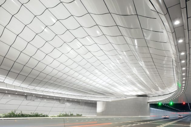 Haikoi Wenming East Road Tunnel by Penda China in Hainan Province, China