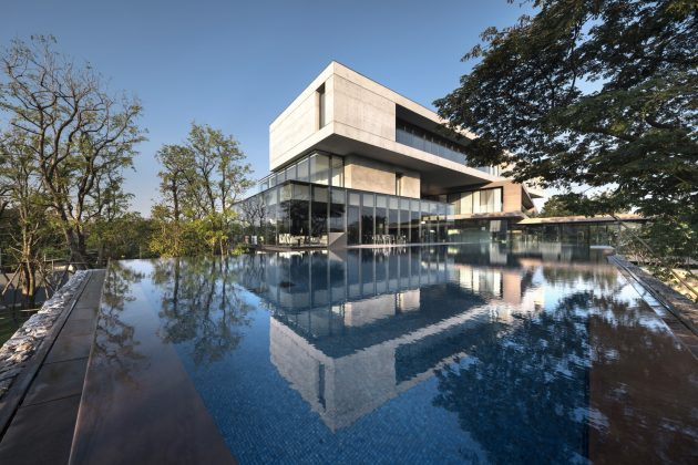 Twisted House by Architects 49 House Design Limited in Thailand