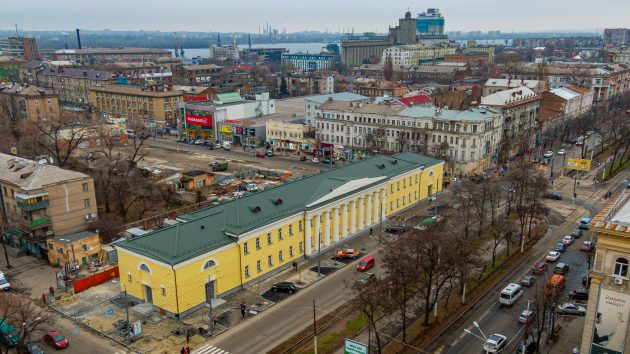 The Businessman Restored the Old-time National Architectural Monument in Dnipro city, Ukraine