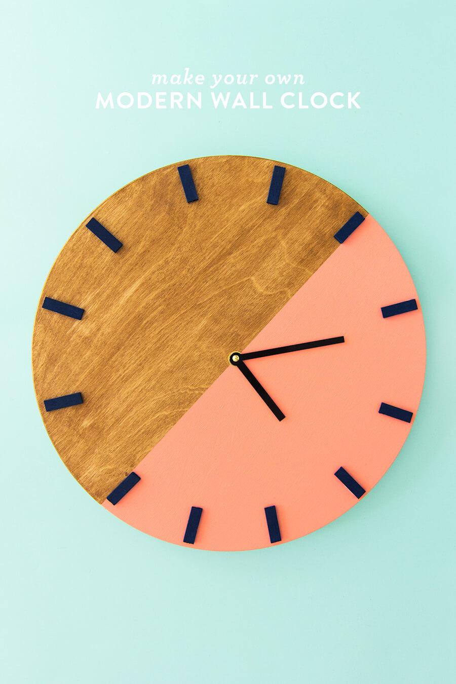 15 Wonderful DIY Wall Clock Projects You Will Enjoy Creating
