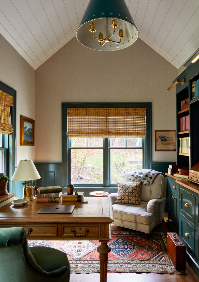 16 Outstanding Farmhouse Home Office Designs For Great Productivity
