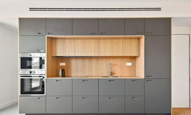 Renovation Of A Modern Project Around A Multifunctional Furniture