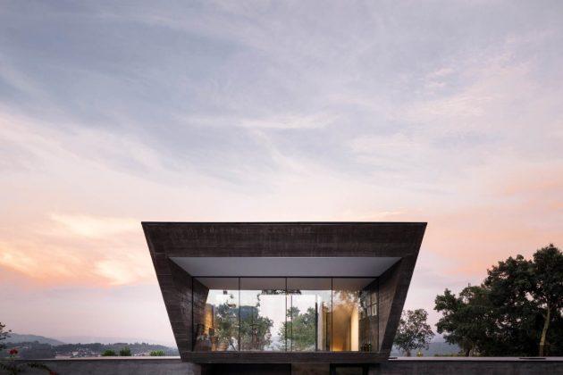 Cork Oak House by Hugo Pereira Arquitetos in Celorico de Basto, Portugal