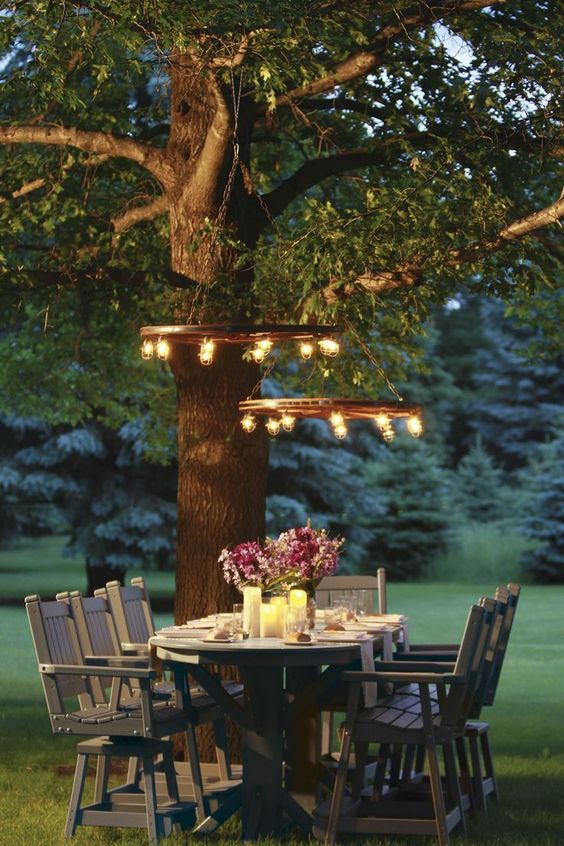 Ideas To Illuminate Your Garden With Lights And Garlands