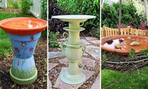 15 Charming DIY Bird Bath Ideas For Your Garden