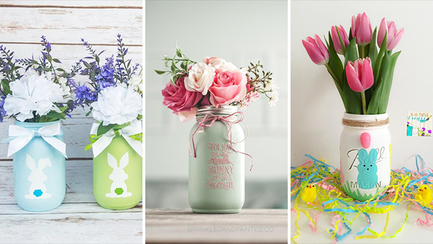 16 Lovely Easter Mason Jar Decorations To Add To Your Festive Décor