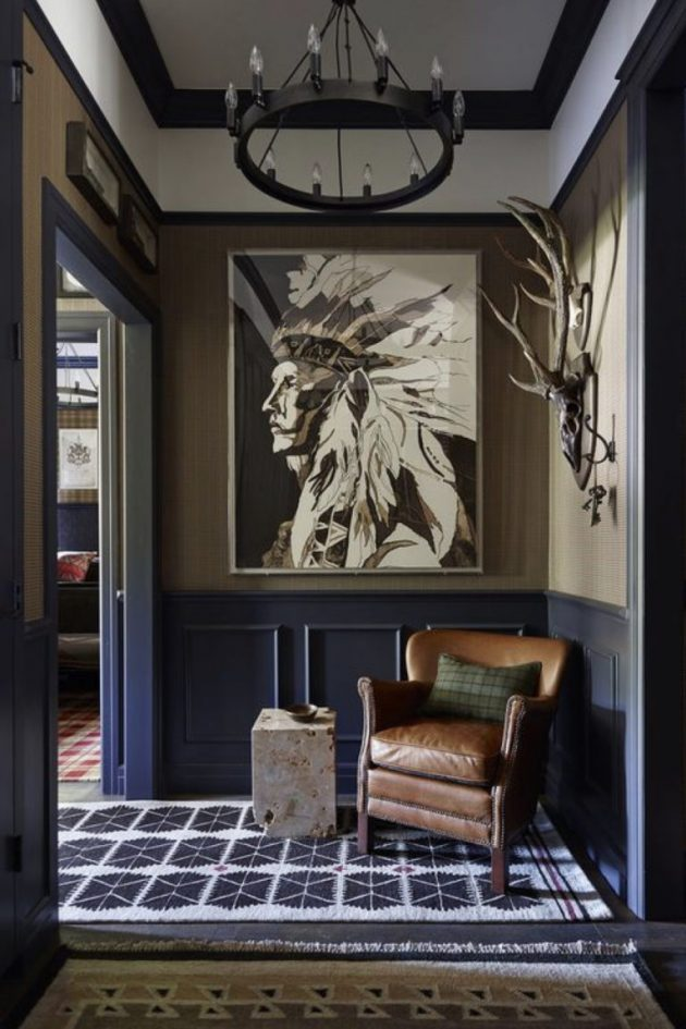 A Living Room In A Masculine Style