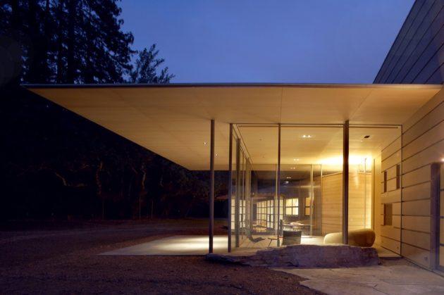 Creekside Residence by Bohlin Cywinski Jackson in Woodside, California