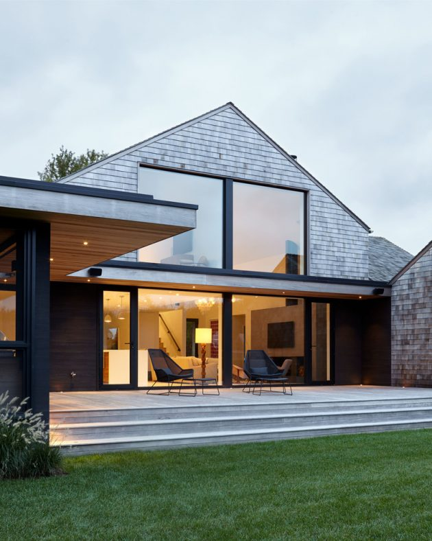 Mitchell Lane House by Robert Young Architects in Bridgehampton, New York