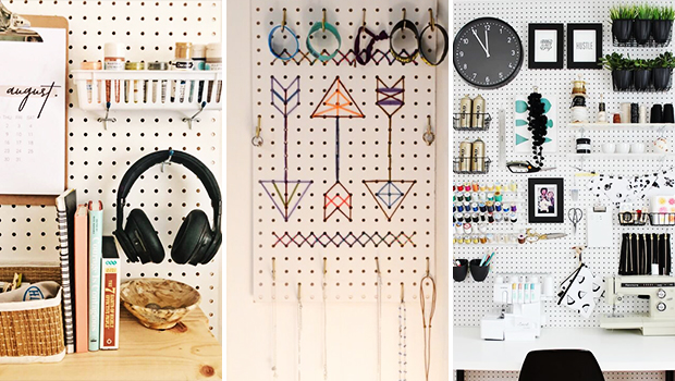 14 Super Practical DIY Pegboard Organization Ideas For Any Room