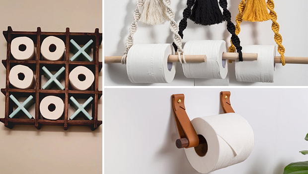 15 Interesting Toilet Roll Holder Designs For Your Bathroom