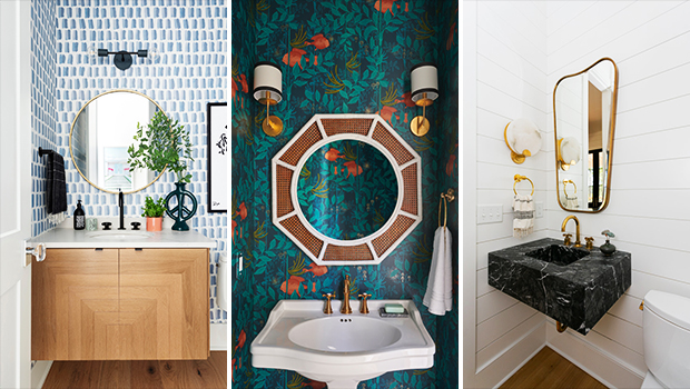 18 Lovely Coastal Powder Room Designs You'll Adore
