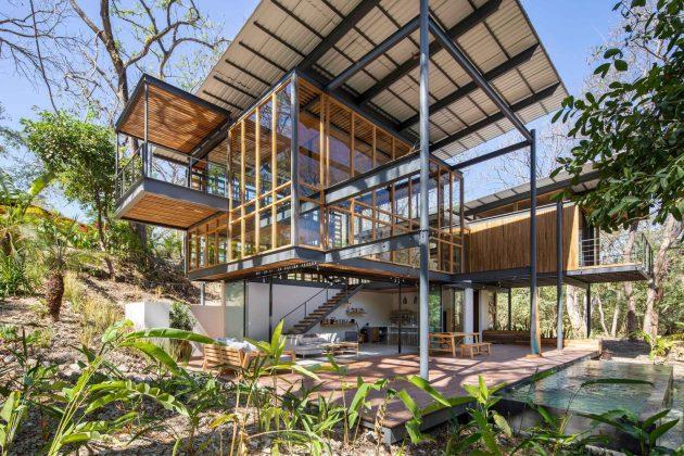 Jungle Frame House by Studio Saxe in Nosara, Costa Rica