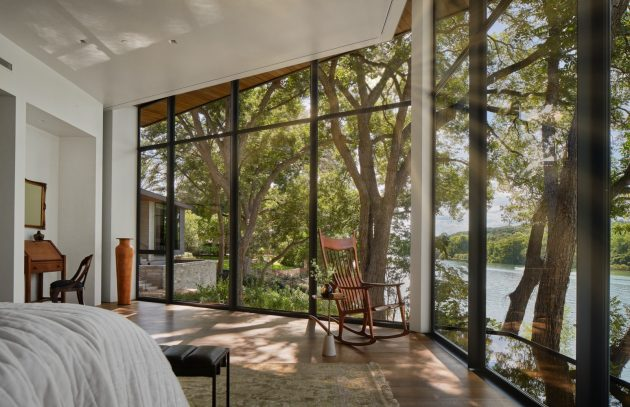 Ski Slope Residence - A Vintage Lake Austin Home with a Hexagon View by LaRue Architects