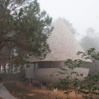 The Mushroom – A wood house in a pine forest designed by ZJJZ
