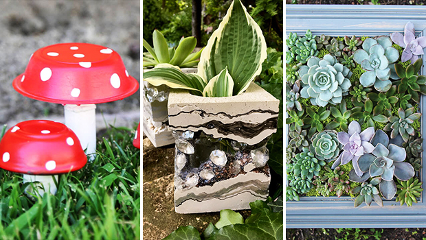 15 Wonderfully Charming DIY Garden Decorations You Will Want To Craft