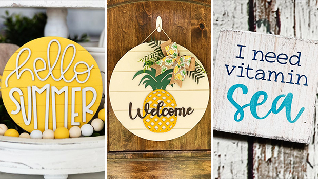 18 Joyful Summer Sign Designs That Will Bring Some Color To Your Home