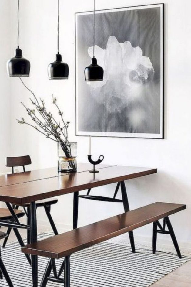 The Perfect Dining Room With A Touch of Masculanity