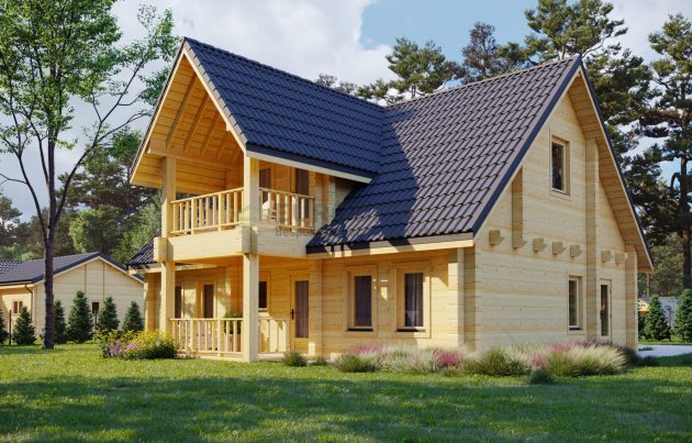 The Log House Charm - Now In The Prefab Industry