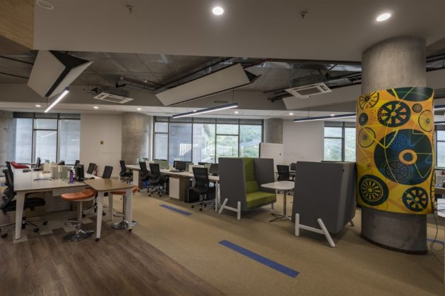 KPIT Office - Proactive Workspace by Designers Group in India