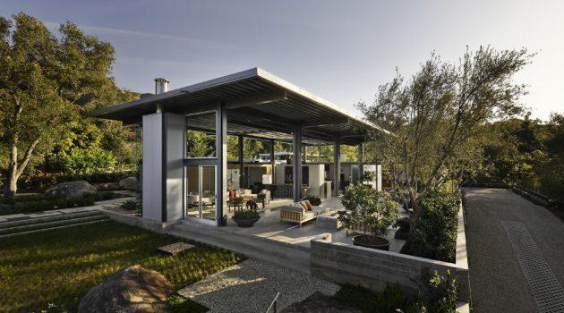 Montecito Residence by Barton Myers Associates in California, USA