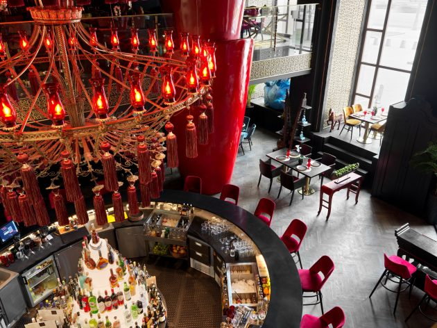 Restaurant Design Project by Anastasia Panibratova at the Radisson Collection Hotel in Moscow, Russia