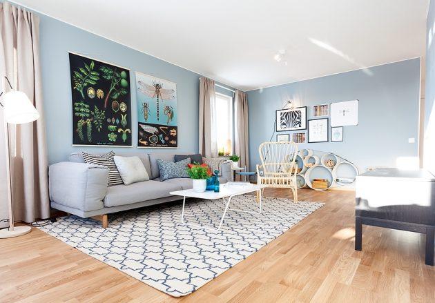 A Blue-Gray Scandinavian Interior Decor That Will Simply Amaze You