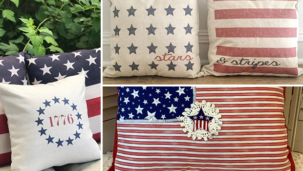 16 Beautiful 4th of July Pillow & Pillow Cover Designs