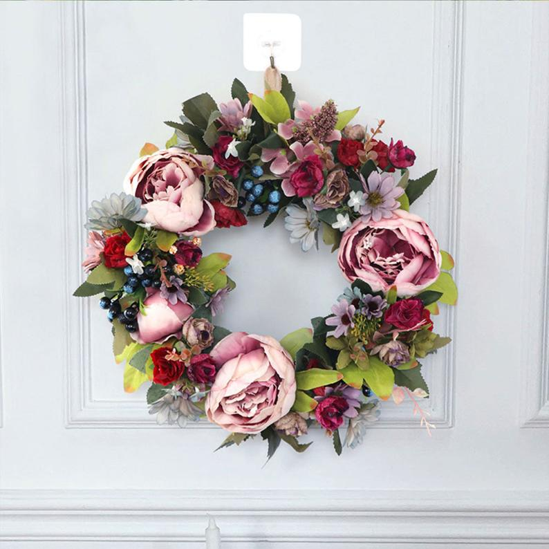 16 Colorful Floral Summer Wreath Designs You Will Adore