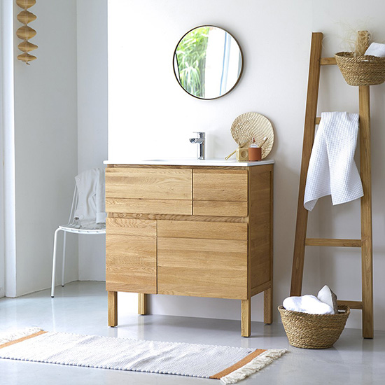 The Warmth And Authenticity That This Solid Wood Bathroom Furniture Brings Is Incredible