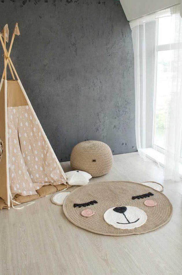 Inspirational Ideas Of Baby Room Crochet Rug