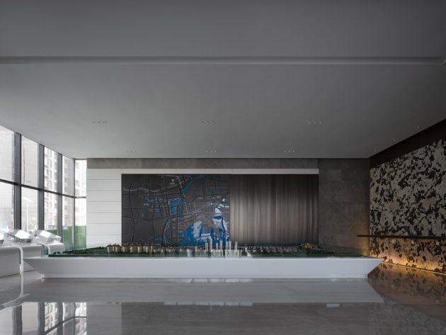 Zhongzhou Peninsula City Sales Center by MYP Design in Qingdao City, China