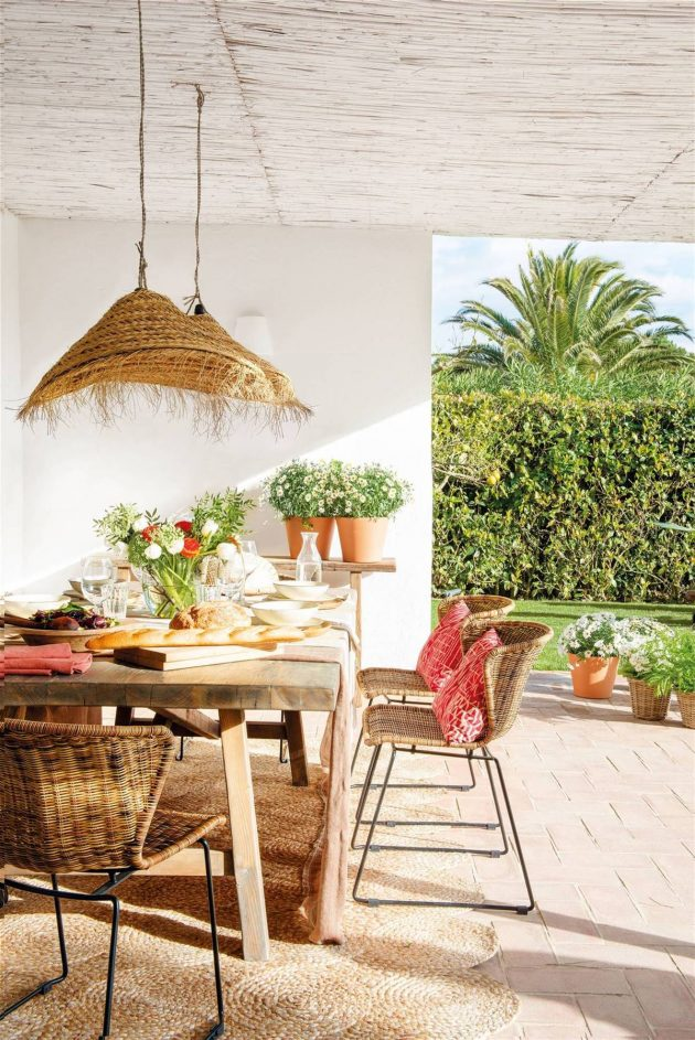 The Best Decorated Porches With Wicker Pieces