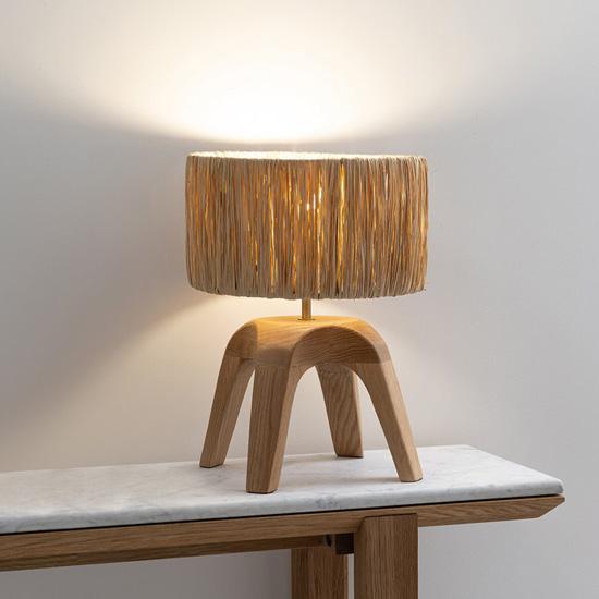 A Raffia Lamp To Gently Illuminate Your Decor