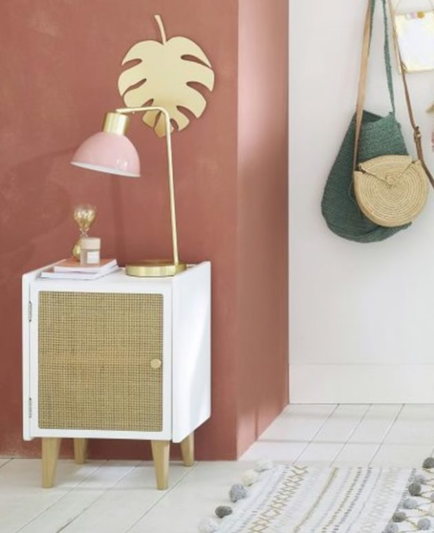 A Cane Bedside Table For The Bedroom