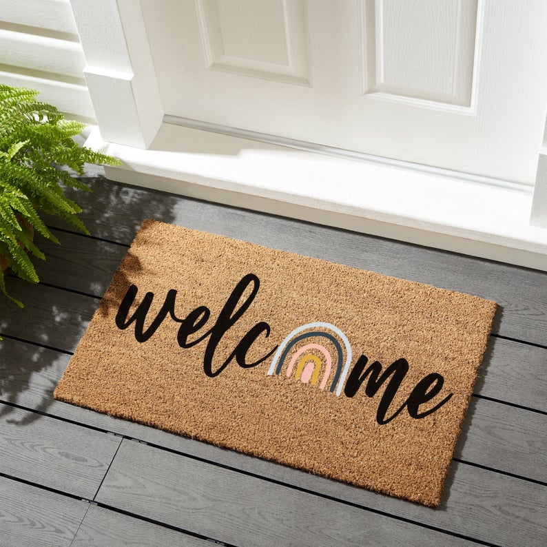 15 Cheerful Summer Doormat Designs That Will Refresh Your Entrance