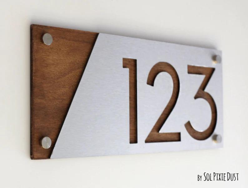 15 Sleek Modern House Number Designs Any Modern Home Needs